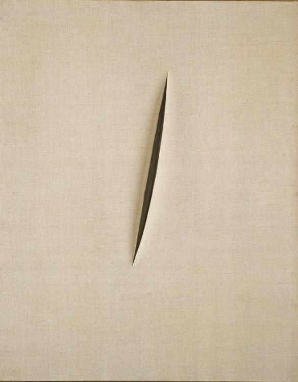 Lucio Fontana Concetto spaziale Attesa 1960