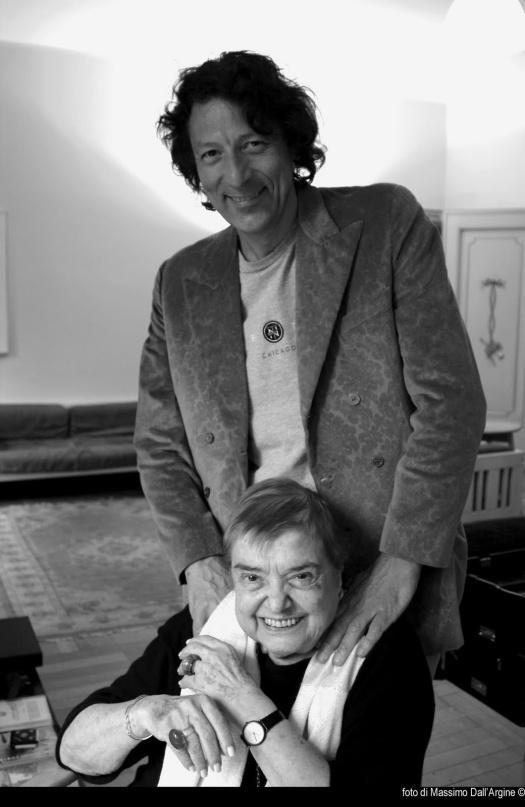 Marco Nereo Rotelli e Fernanda Pivano