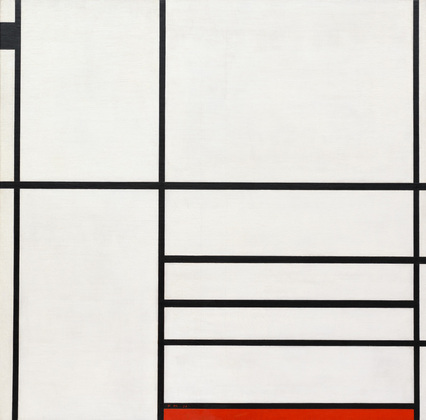 Piet Mondrian Composizione in Bianco, Nero e Rosso Parigi 1936