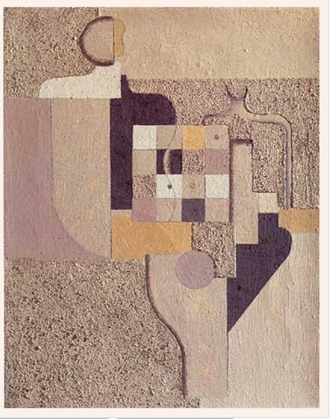 Giocatori di Scacchi 1924 Olio e Sabbia su tela W. Baumeister