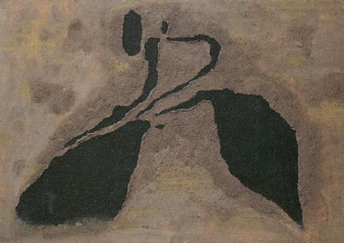 Corridori Valltorta 1934 olio e sabbia su tela