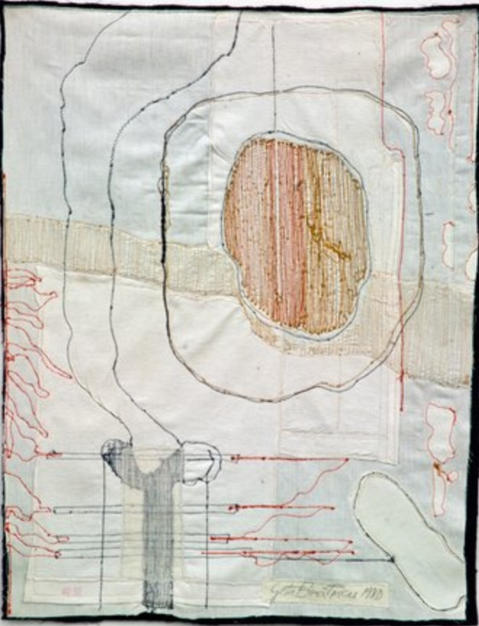 Geta Bratēscu  Medeic Callistheic Moves III 1980 1981  sewing on textile