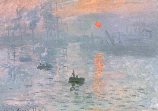 Claude Monet Le coucher de soleil 1872