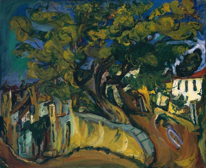 Cagnes Landscape with Tree circa 1925-6 Chaïm Soutine 1893-1943 http://www.tate.org.uk/art/work/T02132